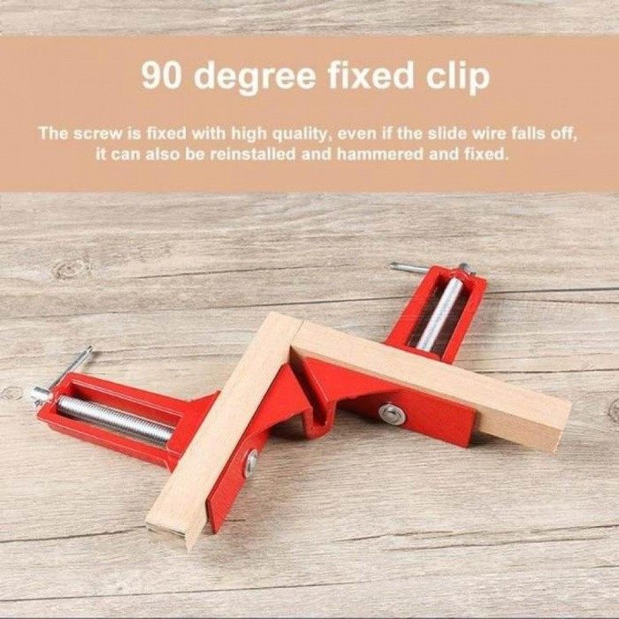 90 Degree Right Angle Clip Picture Frame Fish Tank Woodwork Corner Clamp Fixed Clip Aluminium Alloy Woodworking Hand Tool 4PCS