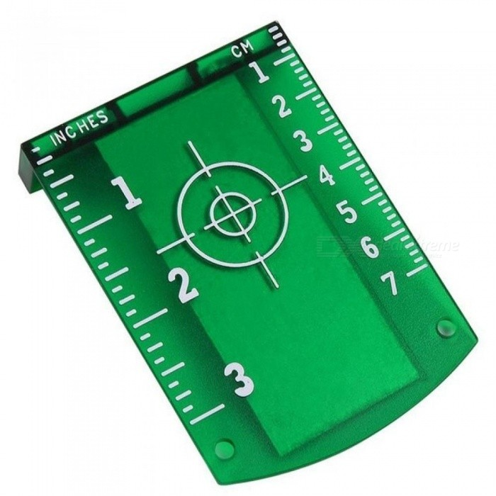 No Burr Magnetic Laser Target Board Card Plate for Red Green Laser Level With Green Color 9.8*7CM 1PCS