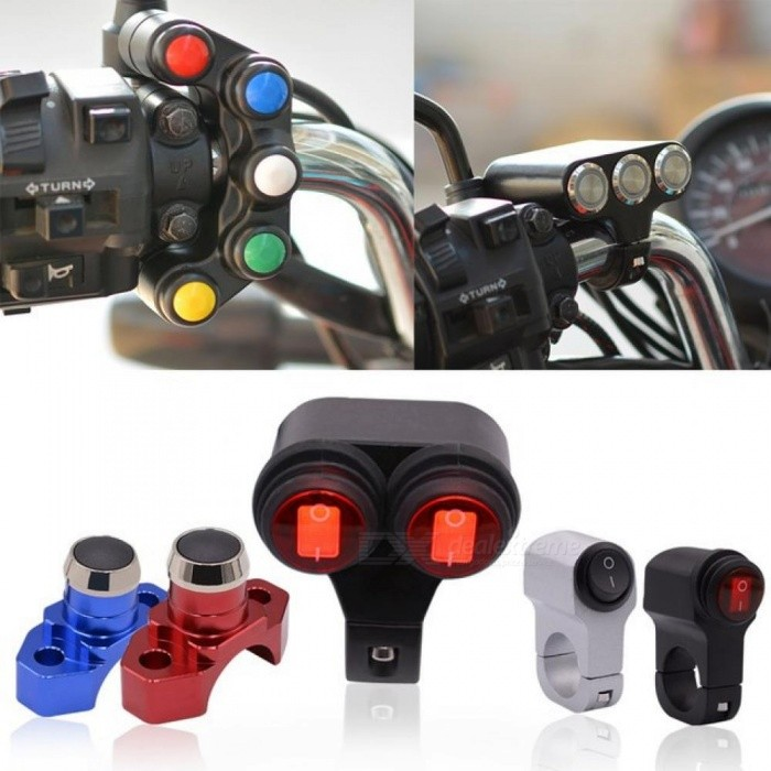 12V Headlight Motorcycle Switches Scooter Handlebar Mount Signal lamp Fog Lights Horn for ON-OFF Start Ignition Switch
