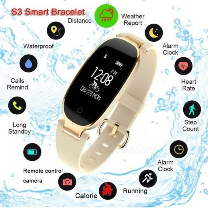 Fitness Tracker Women's S3 Smart Watch Women Smart Watches Heart Rate Monitor Sport Watch For Android IOS Reloj Deportivo Mujer
