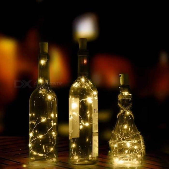 LED Garland Copper Wire Corker String Fairy Lights for Glass Craft Bottle New Year/Christmas/Valentines Wedding Decoration