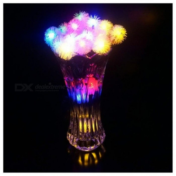 Outdoor String Fairy Lights Snowball Outdoor for Outside Garden Camping Patio Party Christmas Colorful Color
