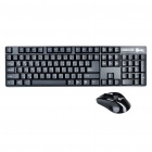 JK-8223 2,4 GHz 104-Key Wireless Keyboard & Optical Mouse 1800dpi Set - Schwarz (2 x AAA + 1 x AA)