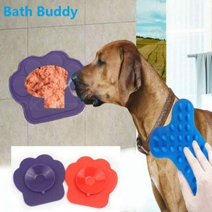 Pet Bath Buddy Slow Eating Bath Fixed Suction Transfer Attention Bath Artifact Pet Supplies For Bathing Grooming