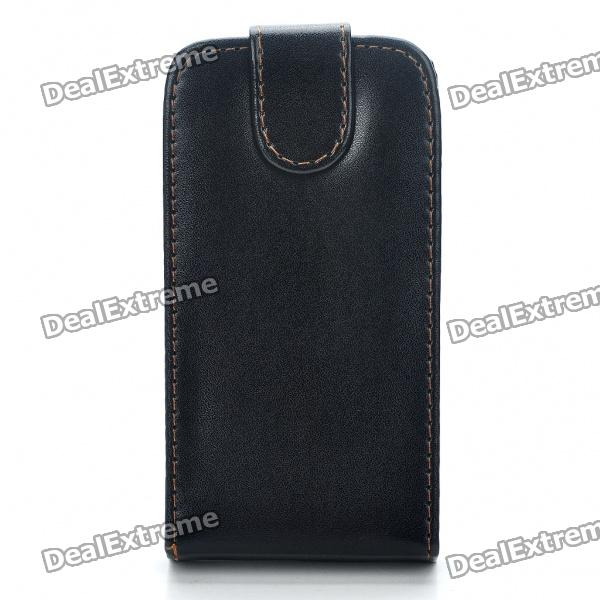 Protective PU Leather Case Bag for HTC Sensation - Black