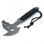 Steel Axe with Strap & Sheath - Black