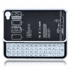 Ultrathin Bluetooth Slide-Out Keyboard Hard Case for Apple iPhone 4 - White