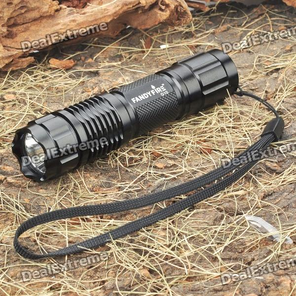 FandyFire G10 6-Mode 350LM White LED Memory Flashlight w/ Strap (1 x 14500 / 1 x AA) fandyfire f101 5 mode 250 lumen white led flashlight w cree r2 wc strap 1x18650 1x17670 2x16340
