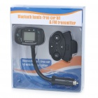"Rechargeable 1.4"" LCD Bluetooth V2.0 Caller ID Handsfree Car Kit with FM"