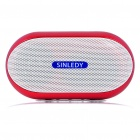 Stylish Portable Mini Rechargeable MP3 Music Speaker with FM/USB/AUX/TF - Red