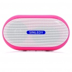 Stylish Portable Mini Rechargeable MP3 Music Speaker with FM/USB/AUX/TF - Pink