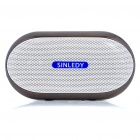 Stylish Portable Mini Rechargeable MP3 Music Speaker with FM/USB/AUX/TF - Coffee
