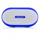 Stylish Portable Mini Rechargeable MP3 Music Speaker with FM/USB/AUX/TF - Blue