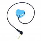Heart Style 3.5mm Male to Dual Female Mono Audio Split Y-Cable (25CM-Length)