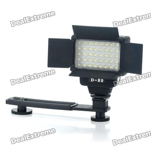 40-LED 5500K 430LM White Video Light for Camera/Camcorder (2 x 14500) neewer cn 304 304pcs led dimmable ultra high power panel digital camera camcorder video light led light for canon nikon pentax