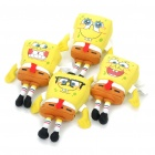 Cute SpongeBob SquarePants Figure Dolls with Suction Cup - Yellow (4-Piece/Random Pattern)
