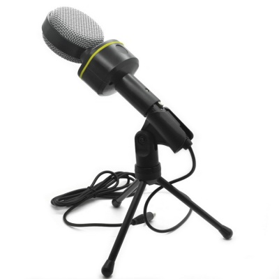 Desktop Microphone with Tripod for Laptop/PC (3.5mm Jack/1.7M-Cable)