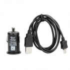 Car Charger + USB Data Cable for Samsung Galaxy S II / S - Black(80cm)