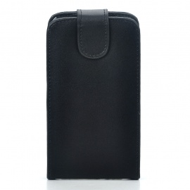 Protective Genuine Leather Cover Plastic Case for Samsung i9100 Galaxy S II - Black