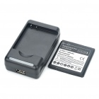 USB Battery Charging Dock + 3.7V 1800mAh Battery + EU Plug Adapter for HTC EVO 3D