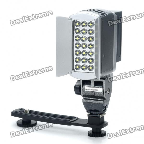 21-LED 2-Mode Video Light for Camera/Camcorder w/ Carrying Bag