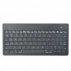 Stylish Ultra-Slim Mini Rechargeable 80-Key Bluetooth Wireless Keyboard - Black