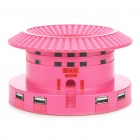 Unique Hakka Earth Castle Style USB Powered MP3 Player Speaker w/ Card Reader/4-Port HUB - Pink