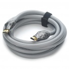 HOLYSERPENT Gold Plated 3D 2160P HDMI V1.4 Male to Male Round Connection Cable - Grey (2.2M-Length)