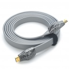 HOLYSERPENT Gold Plated 3D 2160P HDMI V1.4 Male to Male Flat Connection Cable - Grey (2.4M-Length)