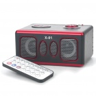 Stilvolle Platz Rechargeable MP3 Player Lautsprecher w / Fernbedienung / SD Slot - Brown + Red