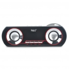 Stylish Portable Rechargeable MP3 Player Speakers w/ FM/USB/TF/AUX/3.5mm Audio Jack - Black + Red