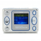 "1.5"" LCD Rechargeable MP3 Player - Silver + Blue (2GB)"