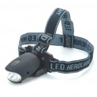 Hand Crank Power 3-LED White Light Flashlight/Headlamp w/ Bike Mount Holder/Cell Phone Adapters