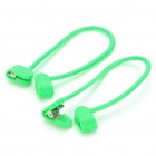 Trousers Pants Edge Clip - Green (2 Piece Pack)