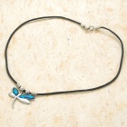 Fashion Elegant Necklace - Silver + Blue + Black