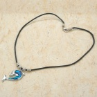 Dolphin Style Necklace - Silver + Blue + Black