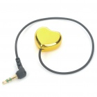 Heart Shaped 1 x 3.5mm Male to 2 x 3.5mm Females Audio Cable - Gold