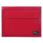 Fashion Protective PU Leather Bag Case for iPad/iPad 2 (Deep Red)