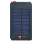 Solar/AC Powered 11200mAh 14.8V Emergency Battery Charger w/ White 1-LED Flashlight for Laptop