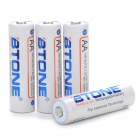 "BTONE Rechargeable 1.2V ""2100mAh"" AA Batteries (4-Piece Pack)"