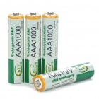 "BTY Rechargeable 1.2V ""1000mAh"" Ni-MH AAA Batteries (4-Piece Pack)"