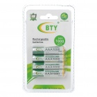 "BTY Rechargeable 1.2V ""1000mAh"" Ni-MH AAA Batteries (4PCS)"