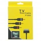 Premium AV Composite Cable for Samsung Galaxy Tab P1000 - Black (120CM-Length)