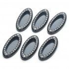 Stylish Car Decoration Stickers - Black (6-Piece Pack)