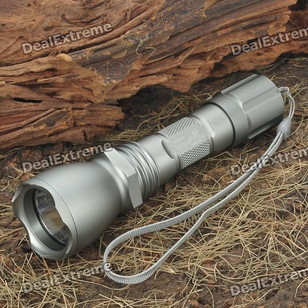 UltraFire 18WG-T60 XM-LT6 HA-III 2-Mode 800LM White LED Flashlight w/ Strap - Silver (1 x 18650) ultrafire m3 t60 3 mode 910 lumen white led flashlight with strap black 1 x 18650
