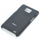 ROCK Protective PC Back Case w/ Screen Guard/Cleaning Cloth for Samsung i9100 Galaxy II - Black