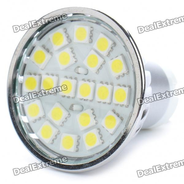 GU10 3.5W 6000K 280-Lumen 20x5050 SMD LED White Light Bulb (AC 220-240V)