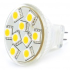 MR11 1,4 W 3200K 120-Lumen 9x5050 SMD LED Warm White Light Bulb (11 ~ 18V)