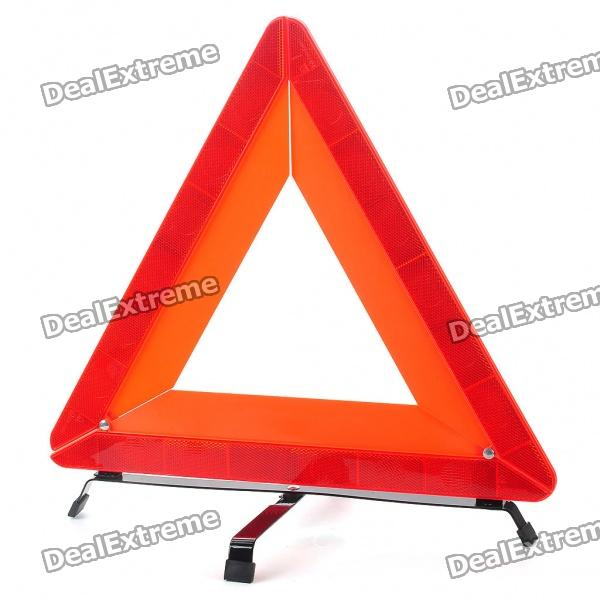 Folding Road Safety Triangle Stander Warning Reflector