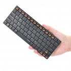 Rapoo E6300 Ultrathin 80-Key Handheld Rechargeable Bluetooth 3.0 Wireless Keyboard - Black